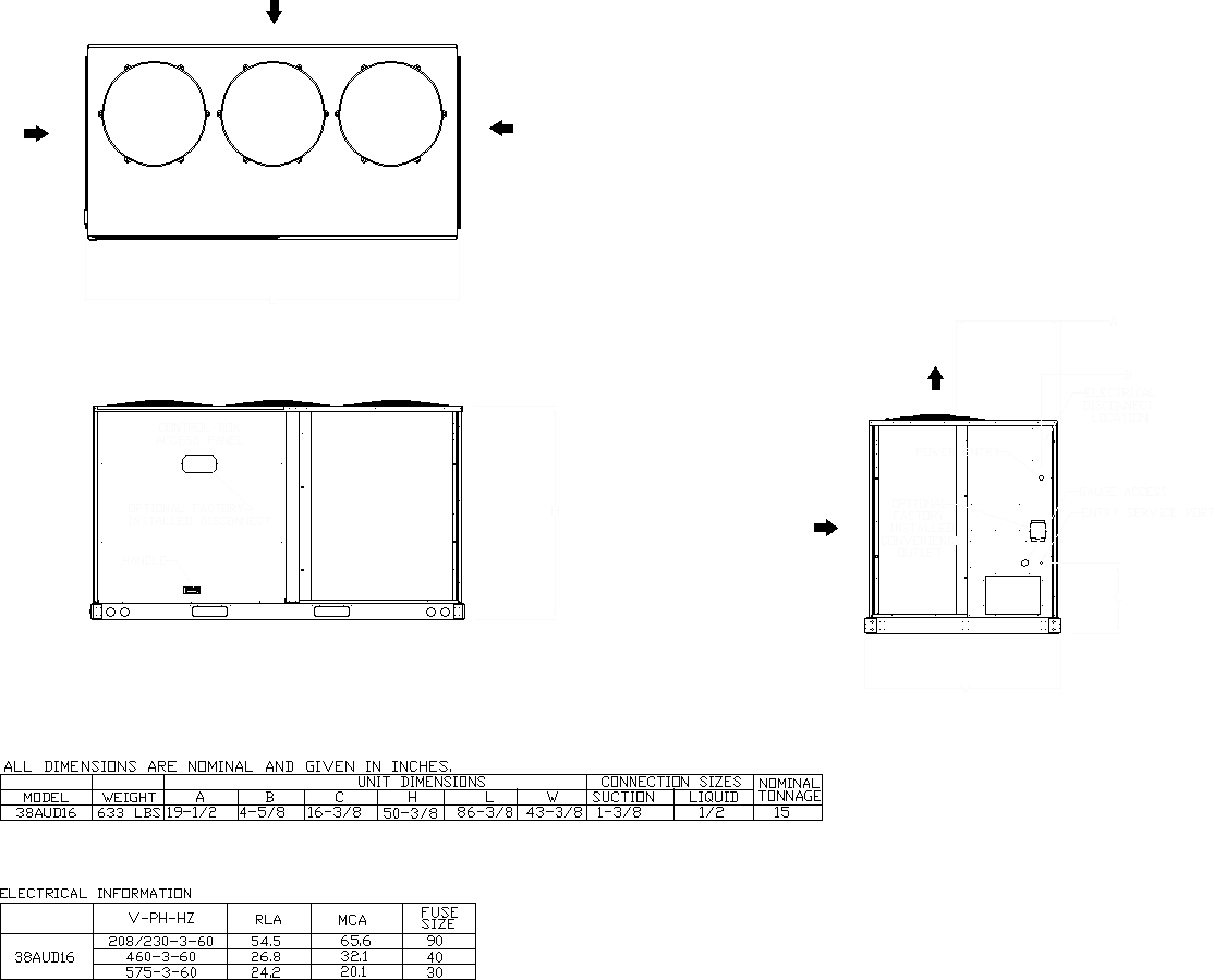 Condenser Submittal Drawing